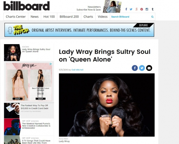 Nicole Wray for Billboard  2017